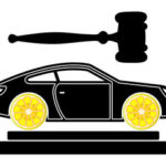 car with a gavel at the top