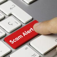 Scam Alert key on keyboard